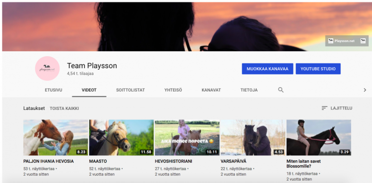 Playsson.netin Youtube-kanava